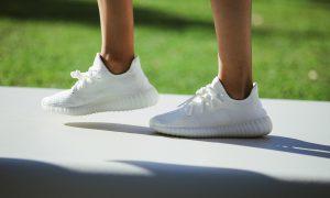All white yeezy boost 350 adidas kanye