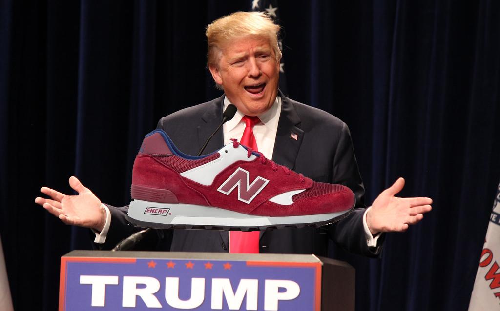 new balance y donald trump