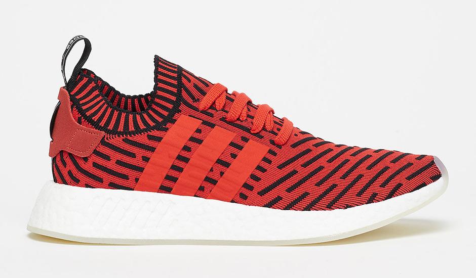 5) adidas NMD R2 Primeknit \u201cCore Red\u201d