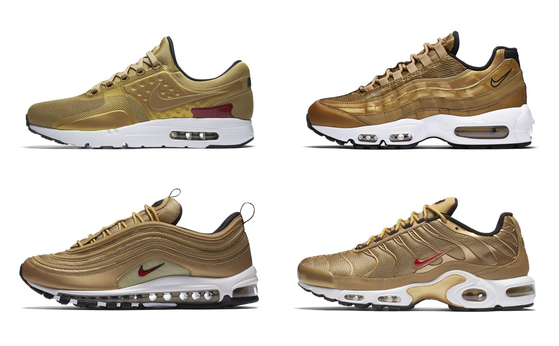 "new concept cce0f 524f0 Nike s Air Max ""Metallic Gold"" Pack Drops in Singapore on May 18"