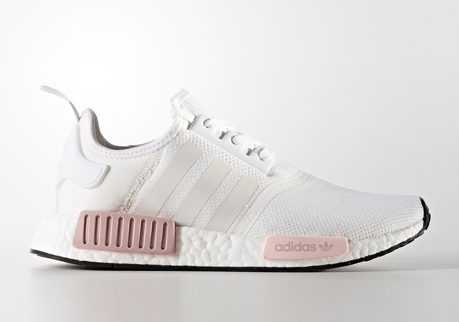 buy online 653dd 2d399 adidas NMD R1 Pink Grey, Women s Fashion, Shoes on Carousell