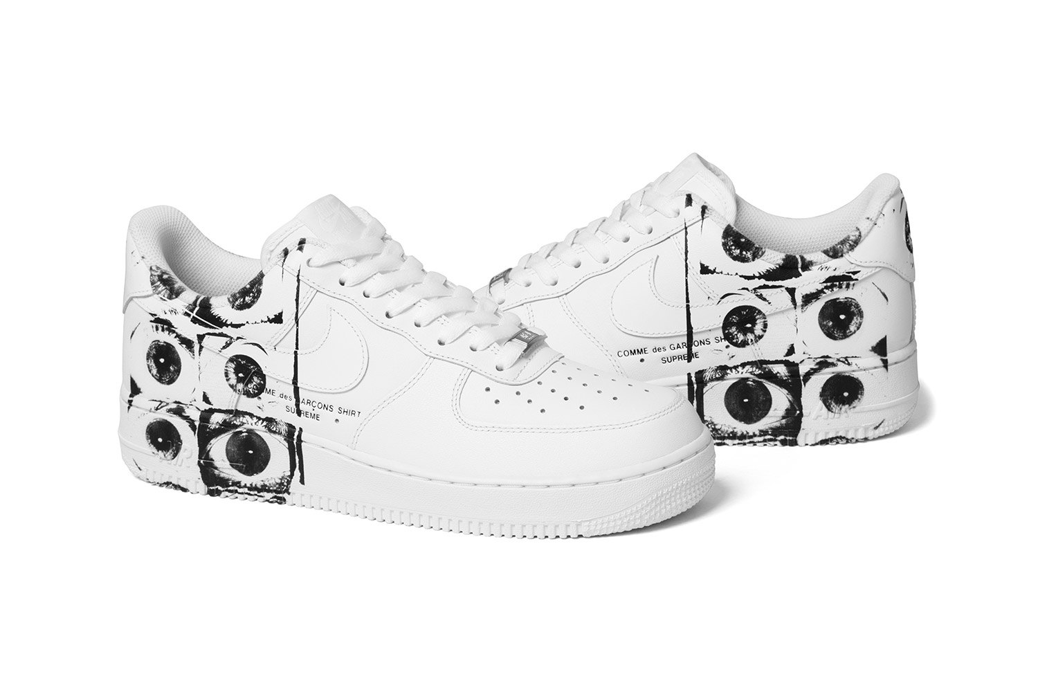 competitive price 1aa8d ba8ed The Supreme x COMME des GARÇONS SHIRT x Nike Air Force 1 Low ...