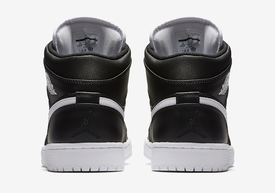 Nike Air Jordan 1 Mid Svart Og Hvite Blomster hLrRpVRArW