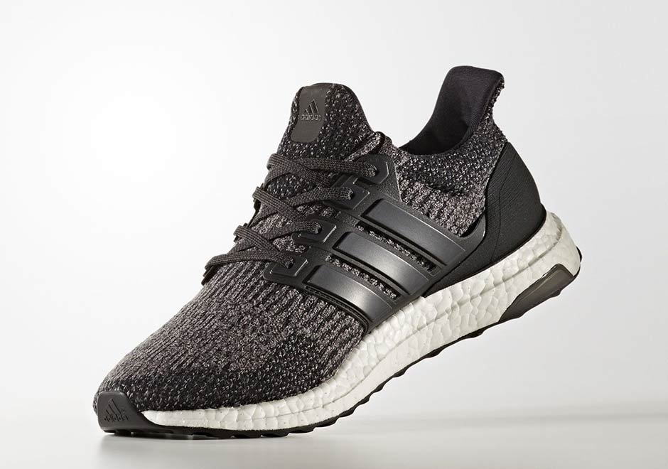 The New adidas UltraBOOST 'Utility Noir' Arrives In Contrasting Knit