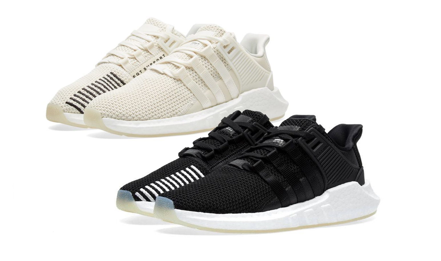 size 40 ff9c0 97918 adidas EQT BOOST 93/17 In Black and Cream Just Dropped