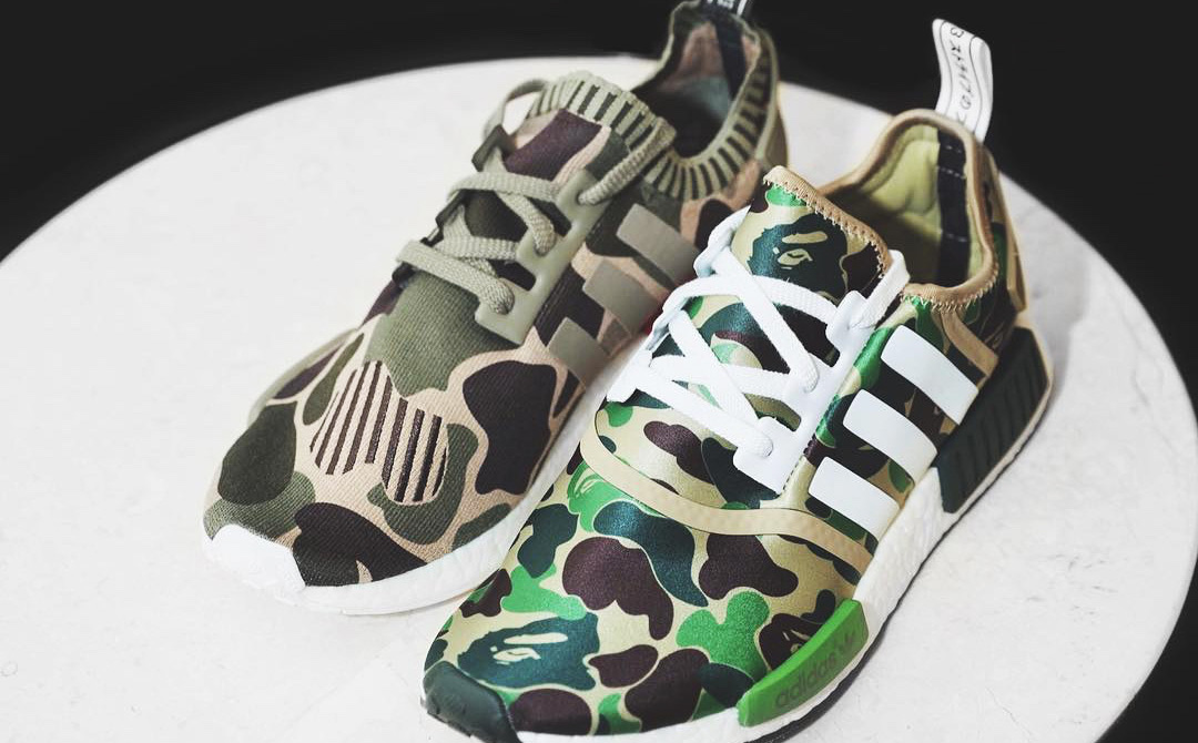 ff086ea219a9d A Sample Pair of the adidas x BAPE NMD R1 Primeknit Surfaces Online
