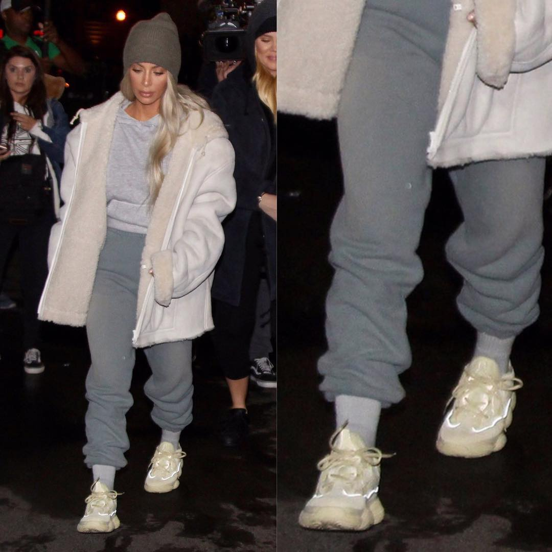the latest cd07f 124fa Kim Kardashian Spotted With An Unreleased Pair of YEEZYs