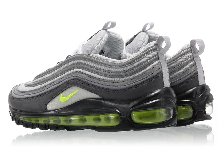 Nike Air Max 97 Neon Green Black Women 921733 014 Size: 7.5 | eBay
