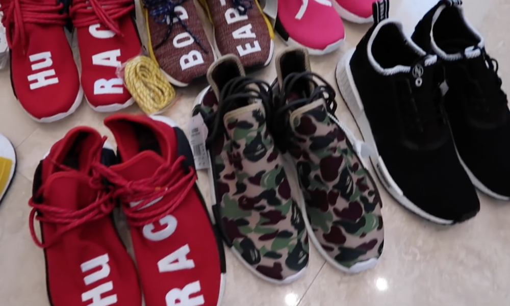 31536f8d9 A Possible Pharrell x BAPE x adidas NMD Human Race Collaboration Surfaces  Online