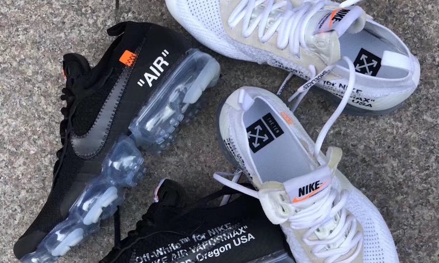 7b29ba289c274 Two New Off-White x Nike Air VaporMax Colourways To Release in February 2018