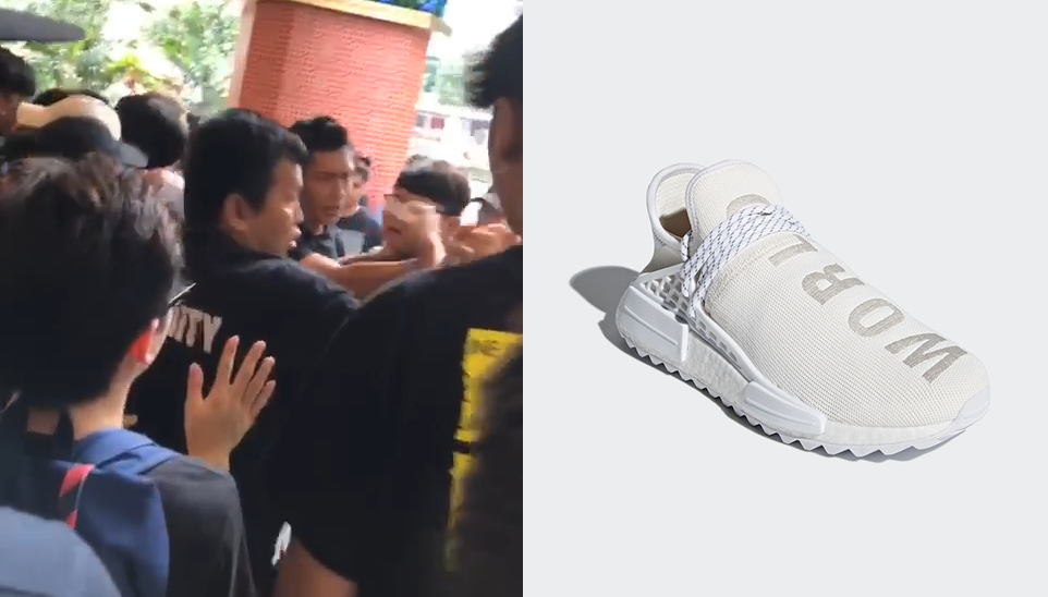 ae829d6602d37 Pharrell s Peace-Loving Sneaker Causes Yet Another Fight in Southeast Asia  – This Time in Singapore