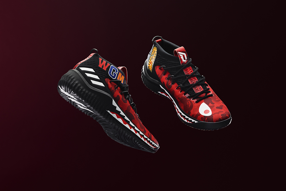 best website 99b3e 96ad1 ... limited edt confirms bape x adidas dame 4 release in singapore