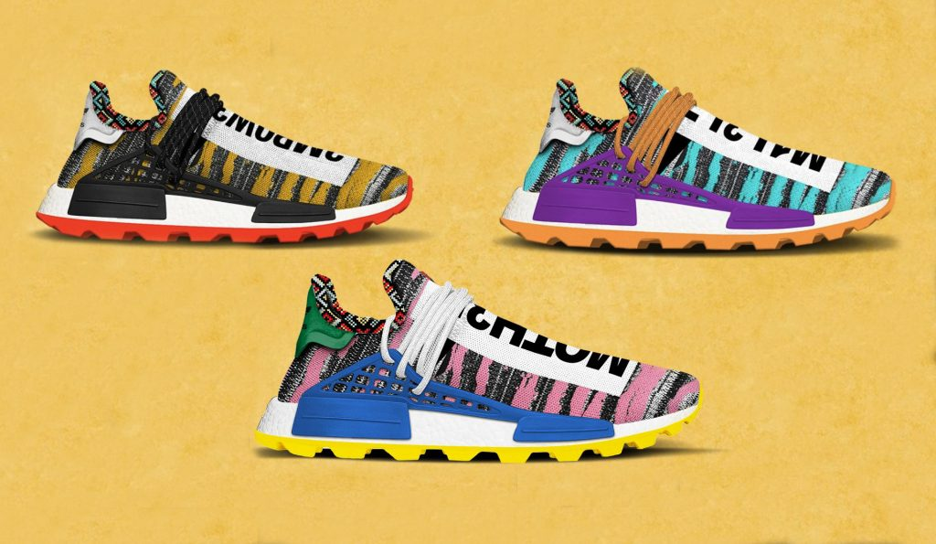 pretty nice e014d cb349 Three New Pharrell x adidas NMD Hu To Drop in August 2018