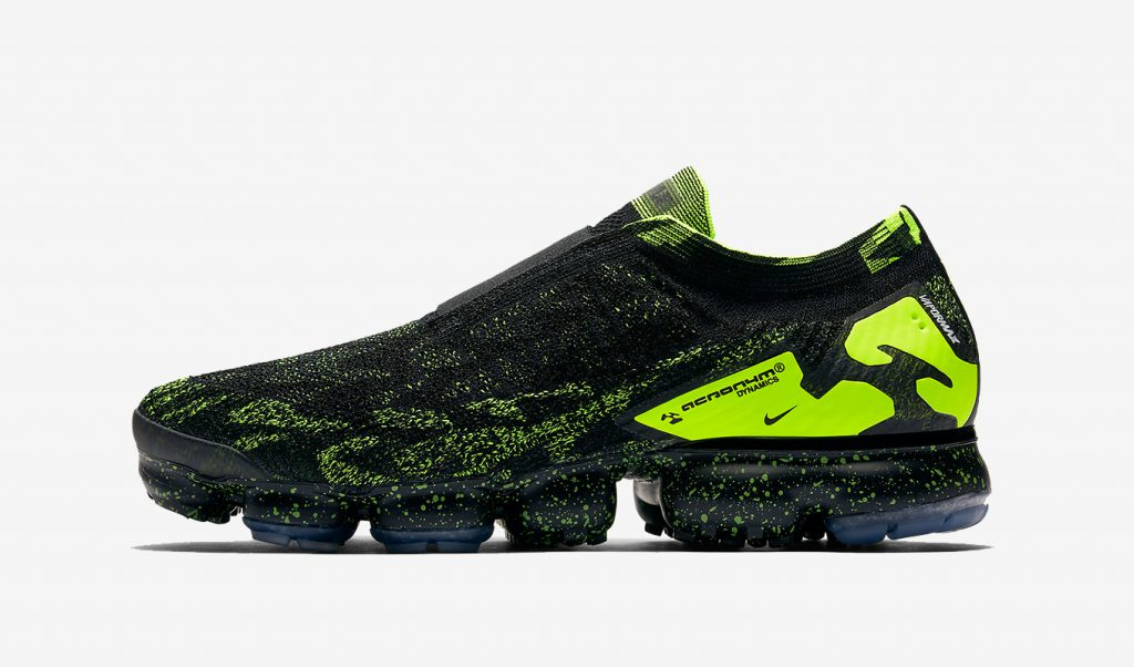 "best service cbd1b 3de56 ACRONYM x Nike Air VaporMax Moc 2 ""Black Volt"" Drops in Spore  Msia on  April 26"