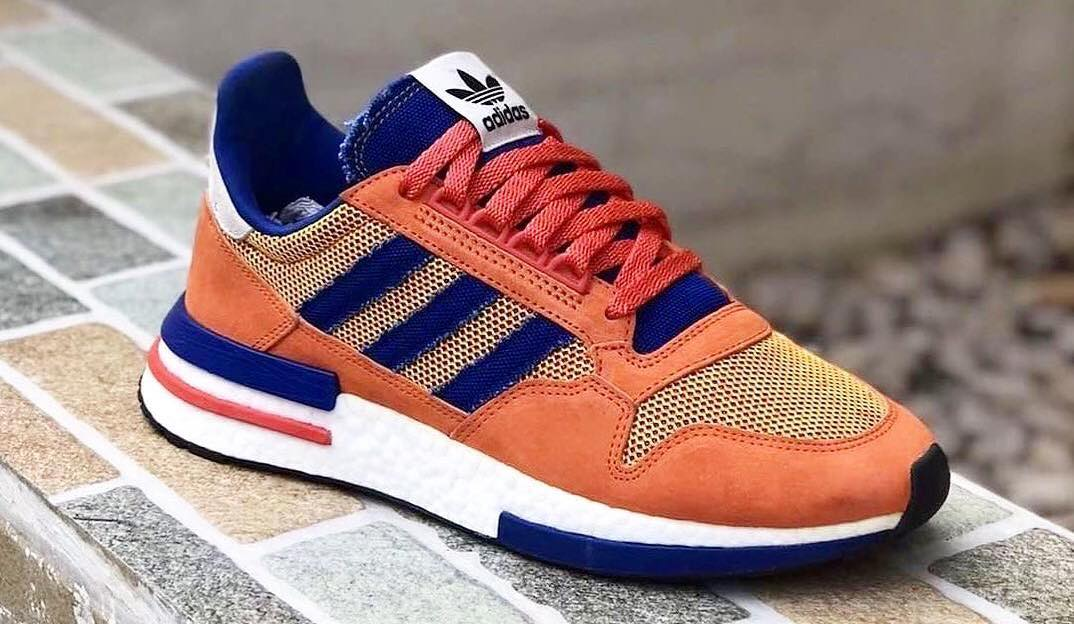 "outlet store 6d667 791ba Heres A First Look at the Dragon Ball Z x adidas ZX500 RM ""Son Goku"""