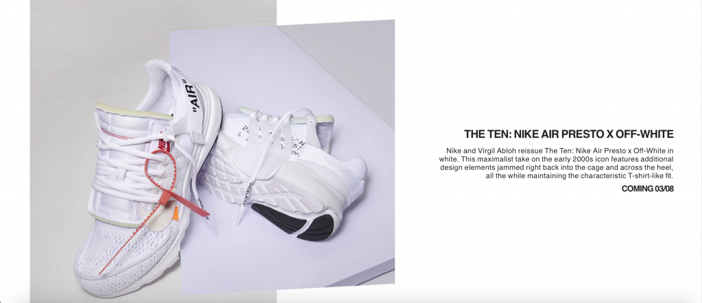 newest 6ee27 799d2 Screengrab from Nike.com on June 20. They share similar aesthetics to the  original Off-White x Nike Air Presto ...