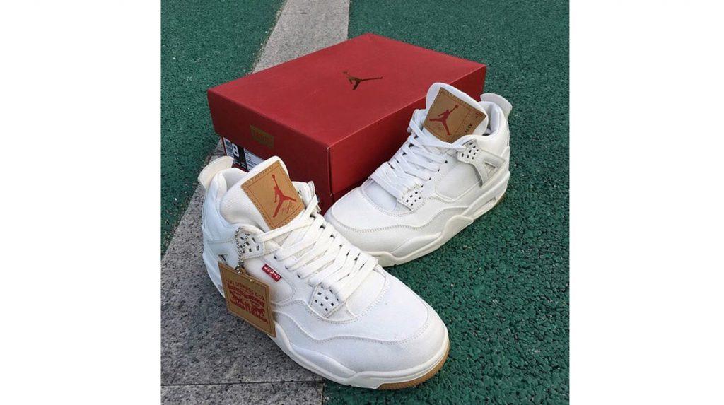 "836fb13a5b6447 Here s A First Look At The Levi s x Nike Air Jordan 4 ""White Denim""  Colourway"
