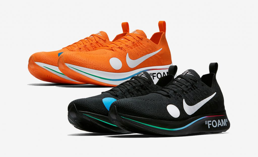 New Off White x Nike Zoom Fly Mercurial Flyknit Colourways