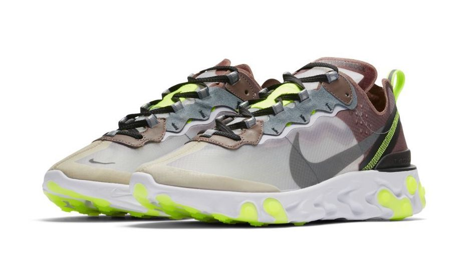 "b27acd4d52f5 Nike.com SG To Release Nike React Element 87 ""Desert Sand"" and ""Dark Grey"""