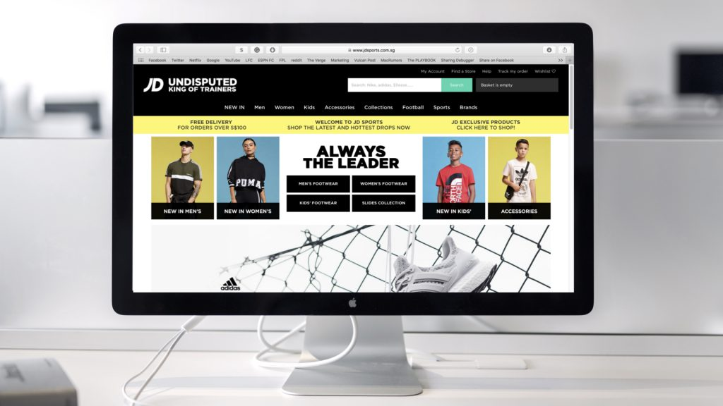 online retailer 8b857 850d2 JD Sports Officially Launches Its Online Store In Singapore