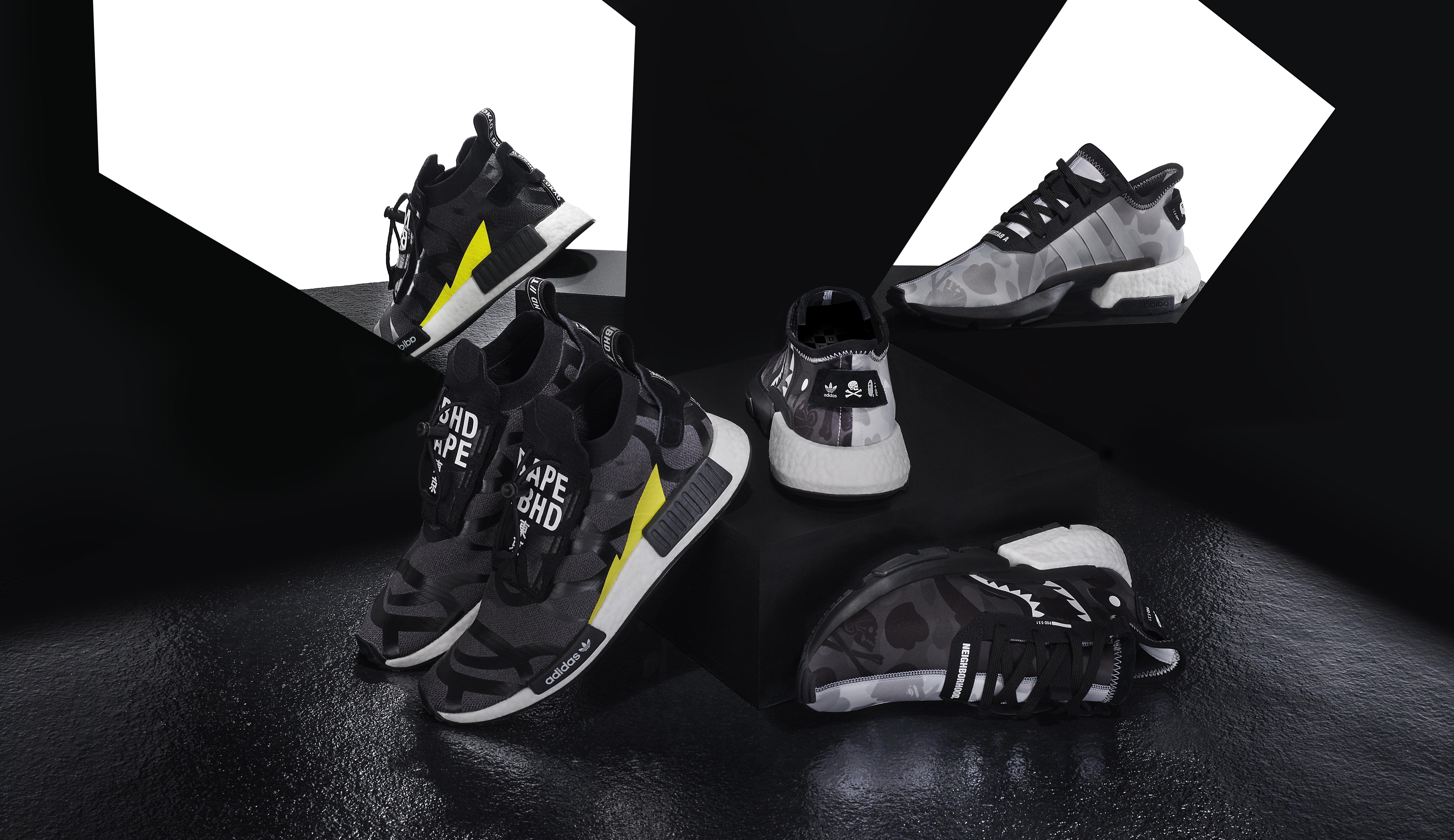 adidas x BAPE x NEIGHBORHOOD Drops in